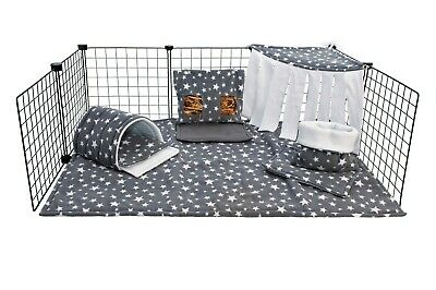 C&C waterproof fleece cage liner set for guinea pig and small animals, zebra