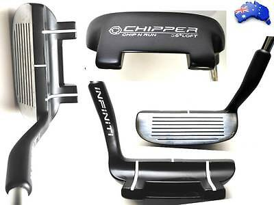 INFINITI GOLF CHIP N RUN RH ZINC CHIPPER 36* LOFT w/ STEEL SHAFT + RUBBER GIRP