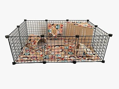 C&C waterproof fleece cage liner set for guinea pig and small animals, woodland