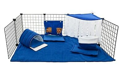 C&C waterproof fleece cage liner set for guinea pig and small animals Royal Blue