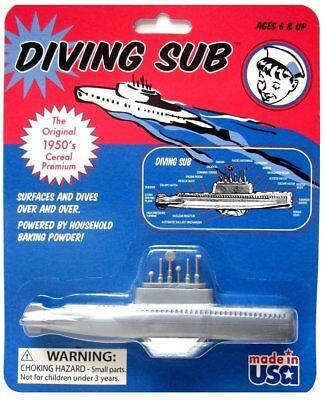 1 Pack Original 1950 Cereal Premium Toy Baking Powder Diving Sub Soda Submarine