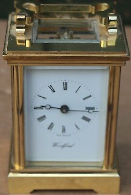 Very Clean Quality Brass Woodford Working Carriage Clock