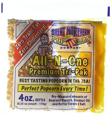 Popcorn Portion Packs Case 4 Ounce Pack Cinema Movie Theater Popper Kettle Home
