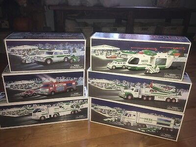 Hess Toy Trucks Lot  6  2001 2002 2003 2004 2005  2006 New