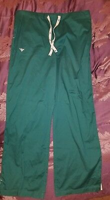 """MED COUTURE GREEN 8705 LARGE TALL 33"""" womens medical Scrub Pants"""