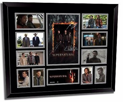 Supernatural Season 13 Ackles Padelecki Signed Limited Edition Frame Memorabilia