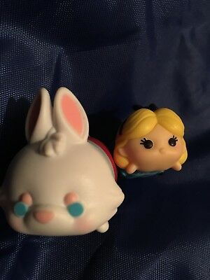 Disney Tsum Tsum Vinyl Alice In Wonderland Medium And White Rabbit Large