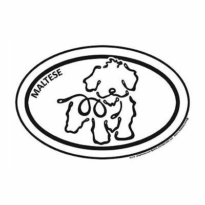 Maltese Euro K Line Vinyl Dog Car Magnet