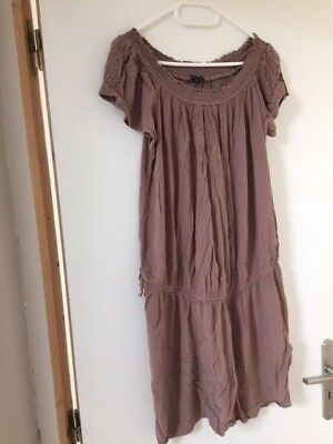 Robe marron ample grossesse - taille 40
