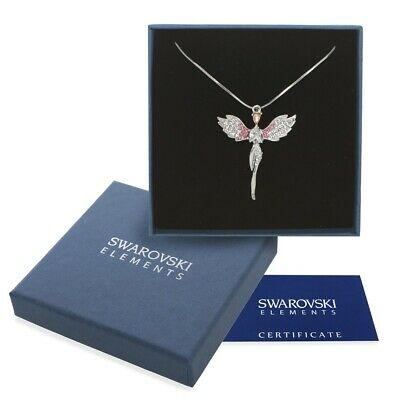Collana argento Swarovski Elements originale G4L cristalli angelo regalo Natale