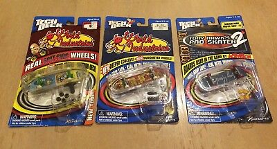 TECH DECK Lot  of 3 New WORLD INDUSTRIES and Tony Hawk fingerboards