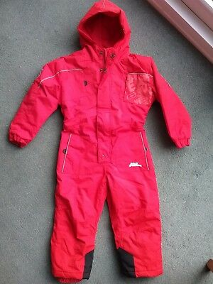 Red boys girls No Fear all in one snow ski suit age 2-3 years