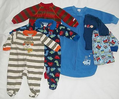 a2038dff192b BABY BOYS NEWBORN 0 3m 3 6m Footed Sleepers Pajamas PJ s (Lot of 6 ...