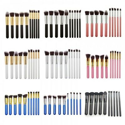 10pcs  Kabuki Style Blusher Face Powder Foundation Make up Brush Set