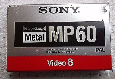 Sony Metal MP60 Video 8 cassette New sealed pack.