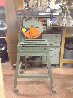 Dewalt Radial Arm Saw Power Shop DW125, single phase 240v. With wheeled stand.