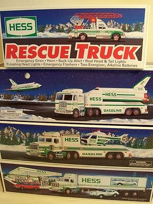 Hess Truck Lot Of 4 - Years 92, 94, 95 & 99 - No Protector Sleeves - Clean