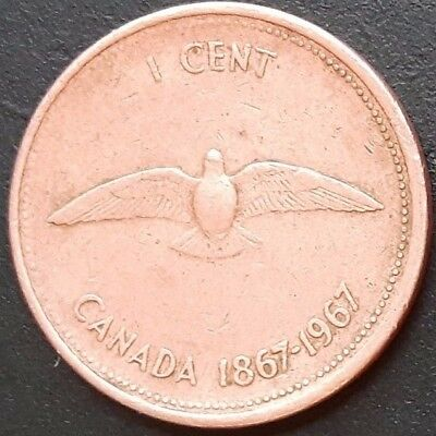 CANADA 1967 CANADIAN 1 One Cent COIN.