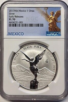 2017 1oz Silver Libertad Reverse Proof  *Treasure Coin of Mexico™* NGC PL-70