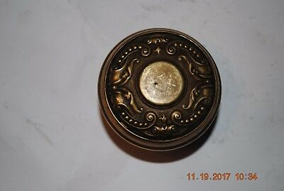 (2) Antique Ornate Door Knobs Solid Brass/Bronze Victorian