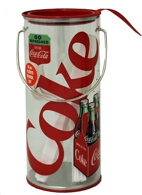 Coke Coca Cola Clear Storage Caddy with Utensils!