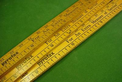 3 Vintage Advertising 4 Ft Yard Sticks Pyrofax For An Extra Measure Of Service