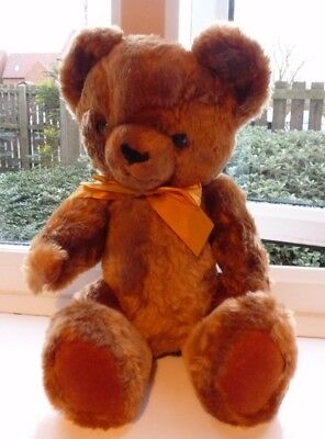 Vintage Brown Fully Jointed Teddy Bear 15 Ins