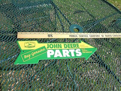 John Deere Genuine Parts Sign Farm Country Quality Farm Equipment Embossed New