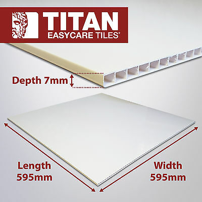 20x Titan Easycare PVC Ceiling Tiles 595 x 595mm x 7mm - New PVC Ceiling Tiles