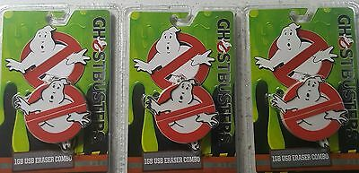 Lot of 3 Ghostbusters 1 GB USB Eraser Combo NEW