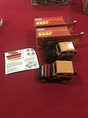 Avon Jeep Wrangler Decanter Lot NIB