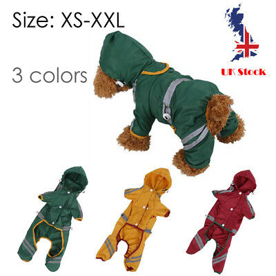 Extra Large Small Dog Puppy Rain Jacket RainCoat Clothes waterproof Cute Green