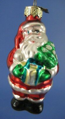 Santa Claus Glass Christmas Tree Ornament Thomas Pacconi Present Gift