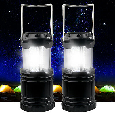 2pcs 30 LED Camping Lantern Portable Collapsible Light Work Lamp Outdoor D05