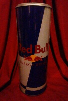 Red Bull Energy Drink Light Up Wall Sign Half Can Display Lights Up!