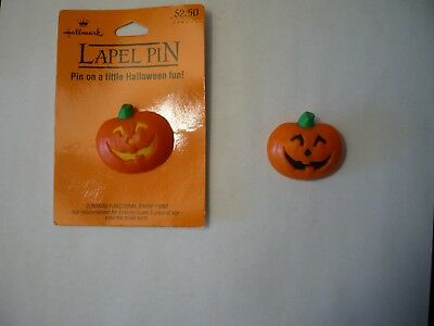 Vintage Hallmark Halloween Lot of 2 Lapel Pins-Jack-O-Lantern's