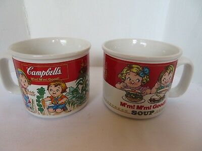 2 CAMPBELLS SOUP MUGS YEAR 1993 VEGETABLE GARDEN AND M'm M'm GOOD