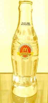Coca Cola Bottle Crystal Mc Donald's New York Basketball 🏀 Only 6 Made !!! Rare