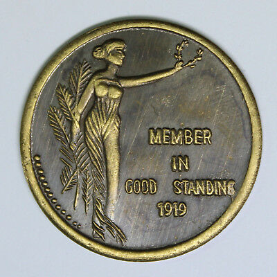 Realm Of Michigan / Member In Good Standing 1919 - Medal / Token