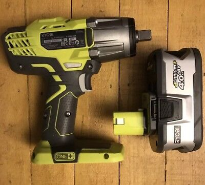Ryobi ONE+ 18V 3 Speed Impact Wrench + 4amp Battery. 18 Volt R18IW3-0 100% Genui
