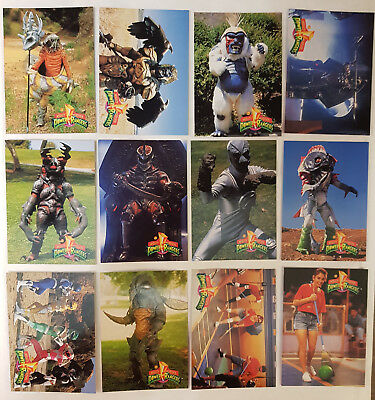 Mighty Morphin Power Rangers Series 1 Trading Cards Komplettsatz+Bonuscards 1994