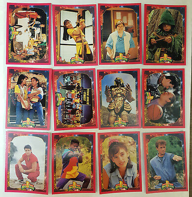 Mighty Morphin Power Rangers Series 2 Trading Cards Komplettsatz 1994
