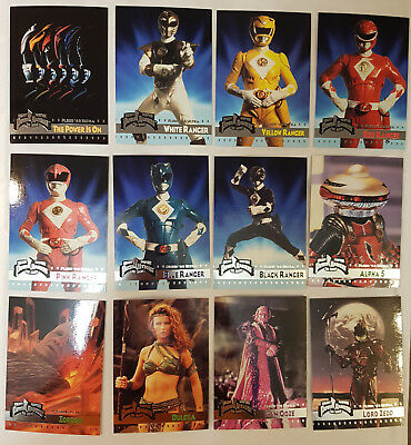 Mighty Morphin Power Rangers The Movie Fleer '95 Trading Cards Komplettsatz 1995