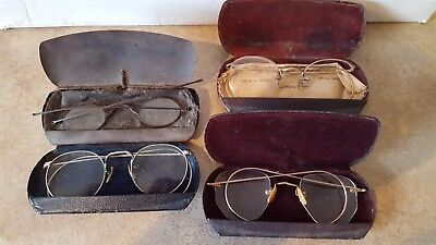 Lot: 4 pairs of vintage eyeglasses 2 are 1/10 12K GF gold filled