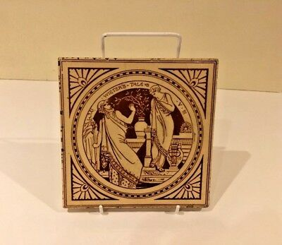 MINTON Victorian Transfer Printed Tile, Shakespeare 'Winter's Tale'