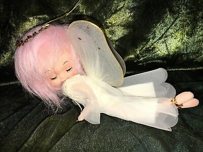 Vintage Bendable Cloth Christmas Angel Dolls - S - Made In Japan Unusual