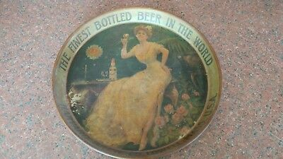 Rare Pre Prohibition Tray from Harvard Brewing Co. Lowell Mass.