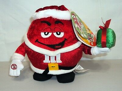 "M&M's Christmas Red Plush Santa Side Stepper Sings ""I'M Sexy and I Know It"" Tags"