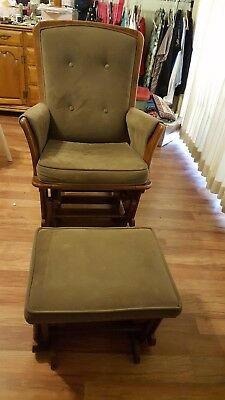 Glider and Ottoman, color espresso, used but in great condition