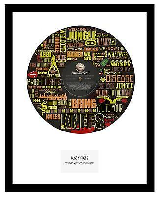 GUNS N' ROSES - MEMORABILIA - VINYL RECORD ART- Limited Edition - Ideal Gift